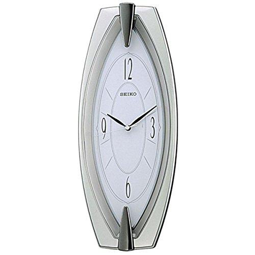 Seiko QXA342S Unisex Wall Clock, Plastic, Silver