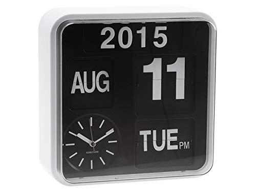 Karlsson Flip Calendar Wall Clock White Mini Flip