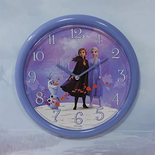 Disney Frozen 2 Olaf Elsa Anna Quartz Kids Purple Wall Clock