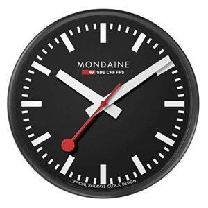 Mondaine Wall Clock, Black Kitchen Clock, A990.Clock.64SBB, 25 cm.