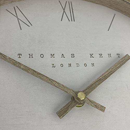 "Thomas Kent Nordic Design Tofu Cream Wall Clock - 12"" London"