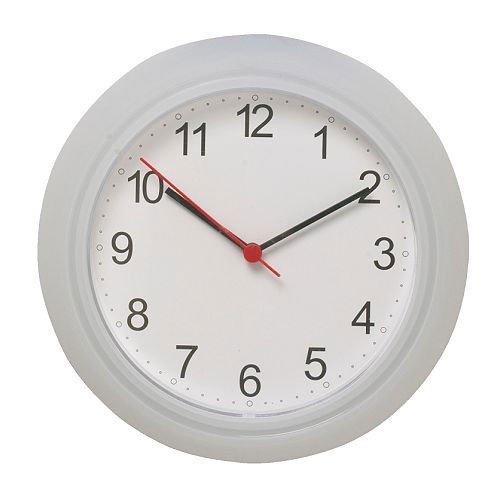 Ikea Rusch kitchen wall clock diameter: 25 cm, white