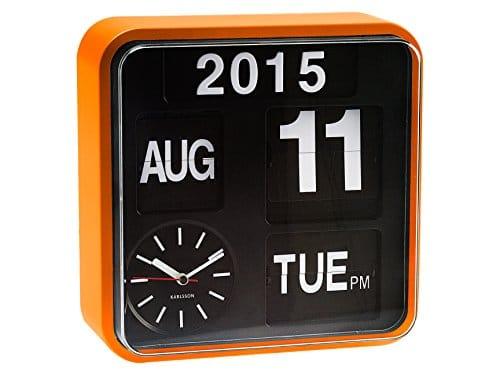 Karlsson, Wall clock, Orange, 24.5x24,5x10cm