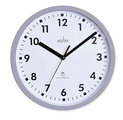 Acctim 74667 Nardo 20cm Radio Controlled Grey Wall Clock