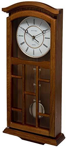 Fox and Simpson FSSW330 Kensington Oak Pendulum Clock, Wood, 28x9x62 cm