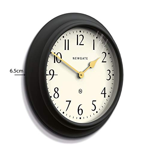 NEWGATE® Westhampton Large Classic Wall Clock, Acrylic Case With Soft Silicone Finish With Large Easy-to-Read Arabic Numbers For Home Kitchen Dining Living Room Or Gift 50cm (Gravity Grey/Arabic Dial)