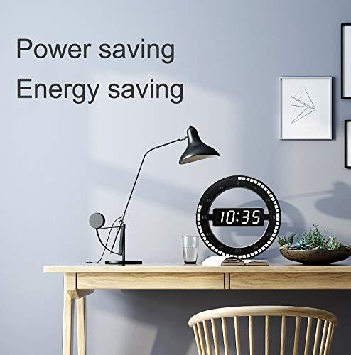 LED Digital Wall Clock Modern Design Dual-Use Dimming Digital Circular Photoreceptive Clocks For Home Office Decoration