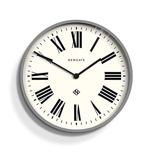 NEWGATE® Italian | Large Roman Numeral Wall Clock | creates a timeless look suited to any interior | 53cm (Grey)