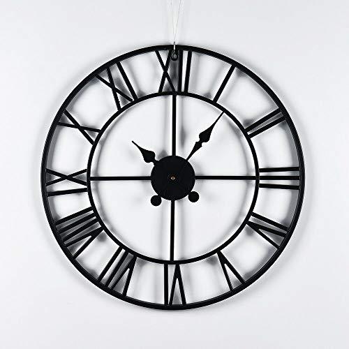 YORKING Large Outdoor Garden Wall Kitchen Clock Big Roman Numerals Giant Open Face Metal 60cm