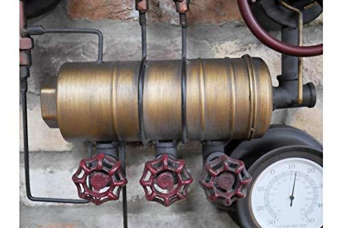 Casadomu Steampunk Clock Industrial Pipe Wall Hanging Large Rustic Loft Decor Timepiece