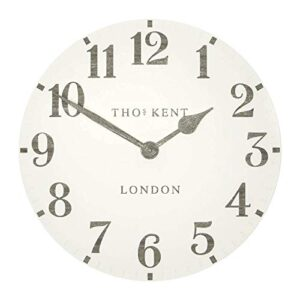 "Thomas Kent Limestone Arabic Design Wall Clock - 20"" London"