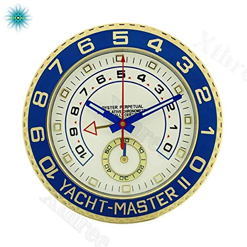 Luxury Art Rolexes Watch Shape Wall Clock Metal Wristwatch Clocks with Silent Mechanism for Home Decortaion Best Gift