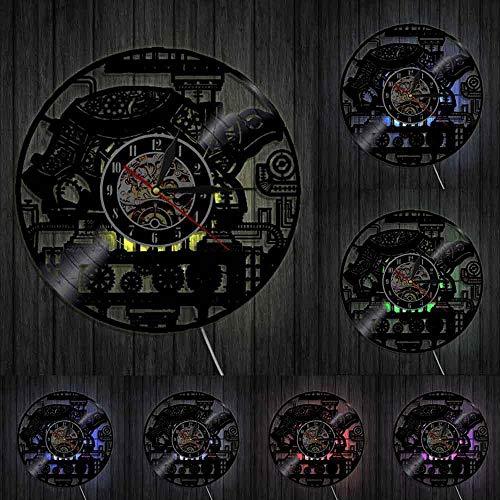 home decor Steampunk Turtle Wall Clock Steampunk Sea Turtle Vintage Ornament Gear Cogs Vinyl Record Clock Animal Lovers Decorative Clock
