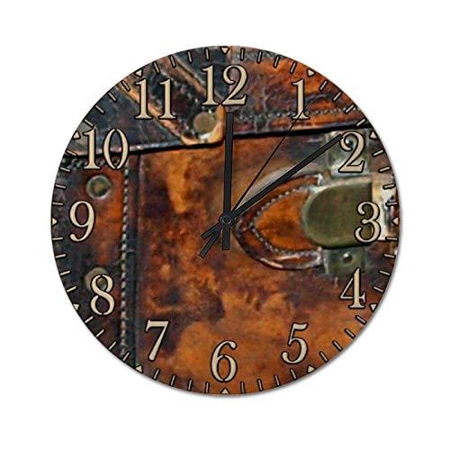 XJZKA 30 CM Silent Non-Ticking Wall Clock, Steampunk Antique Antique Steamer Round PVC Clock Easy to Read, Home/Office/Kitchen/School Clocks