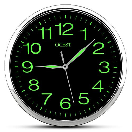 OCEST Luminous Wall Clock, Silent Non-ticking Quartz 12 Inch Wall Clock with Night Light Large Display Battery Operated for Indoor kitchen Office Living Room Bathroom Bedroom Garage (Upgrade Version)
