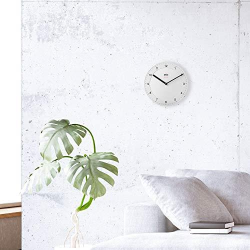 Braun Wall Clock, White, Normal