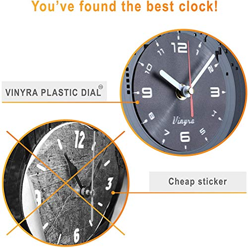 Vinyra Steampunk Owl Vinyl Record Clock - Industrial Wall Clock Gears Decor Retro Wall Gothic Grandfather Vinyl Gift Victorian Wall Decal Steampunk Novelty Owl Vinyl Clock Black