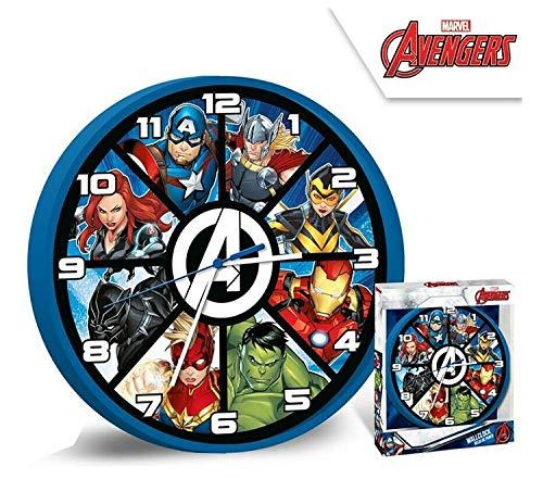 HOVUK® Disney Character Marvel Avengers Licensed Unisex Quartz Wall Mount Clock 25cm for Kids Boys Girls 3+Year