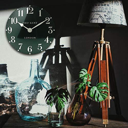 "Thomas Kent Arabic Design Wall Clock Forest Green 12"""