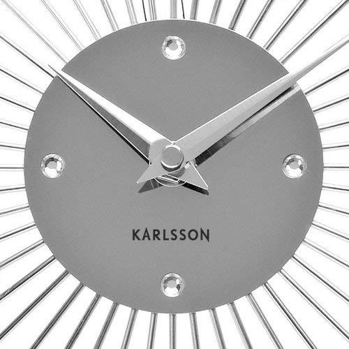 "Karlsson ""Sunburst Wall Clock, Silver"