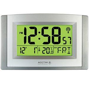 Acctim Stratus Smartlite Wall/Desk Clock, Silver