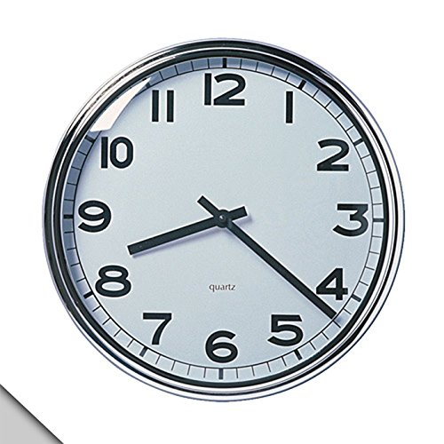 IKEA PUGG - Wall clock, stainless steel chrome-plated