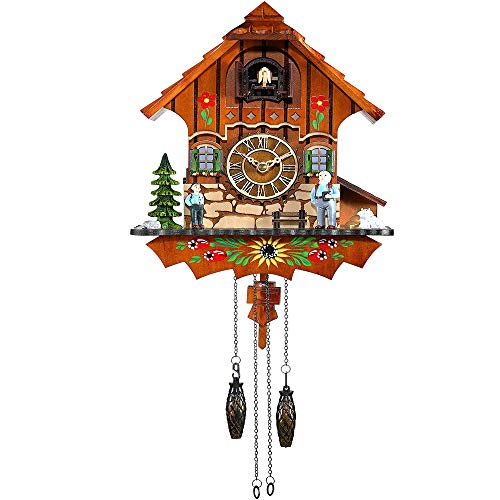Kintrot Cuckoo Clock Black Forest Antique Clock Quartz Pendulum Wall Clock Home Decor.