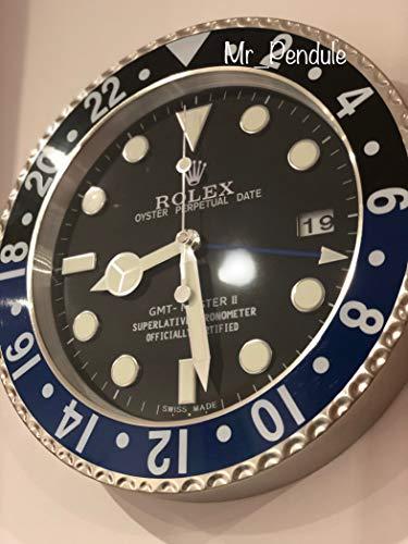 HAOYUN Rolex living room wall clock mute luminous blue