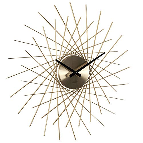 Acctim 'Lohne' Design Spoke Style Metal Wall Clock In Brass Finish 49cm