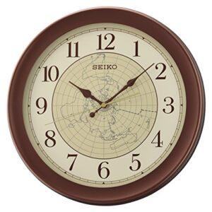Seiko Wall Clock, Brown, 36.8 x 36.8 x 4.3