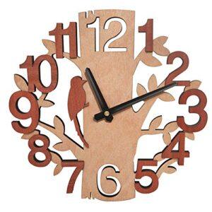 Amazon Brand - Umi Tree-Shape Wall Clock Silent Non-Ticking Clocks for Office Kitchen Living Room Bedroom
