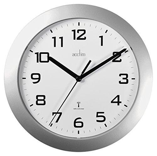 Acctim 74367 Peron Radio Controlled Wall Clock, Silver