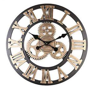 "SAMGU large wall clock for living room silent steampunk wall clocks quiet 15"" 40cm diameter"