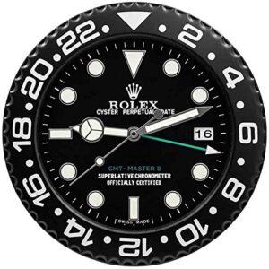 Ygccw Rolex GMT Wall Clock Replica Rolex GMT Master II Black Wallclock