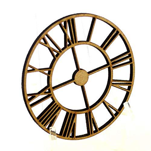 10 x MDF Steampunk Clock Wooden Decoration Card Making Crafting Lasercut Gears (50mm 5cm)
