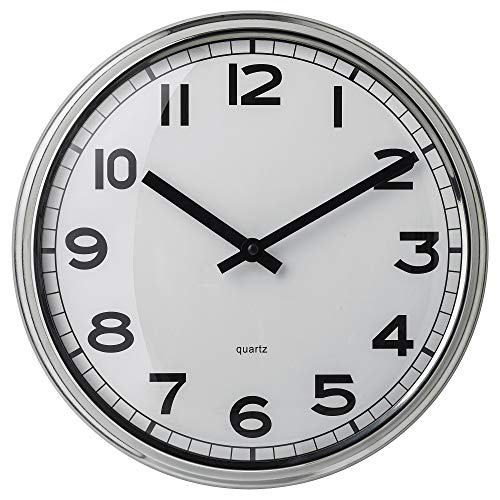 IKEA 103.919.08 Pugg Wall Clock, Stainless Steel